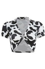 Cow Print Crop Top