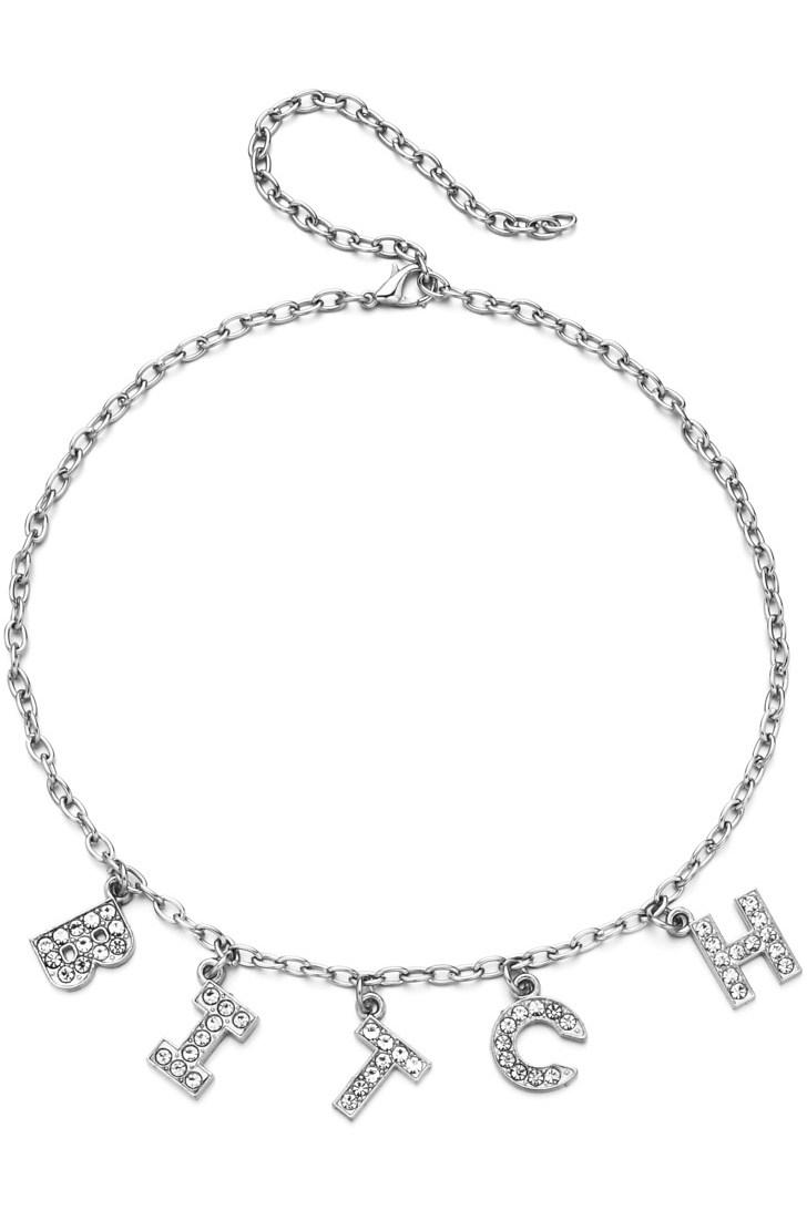 Bitch Diamante Necklace