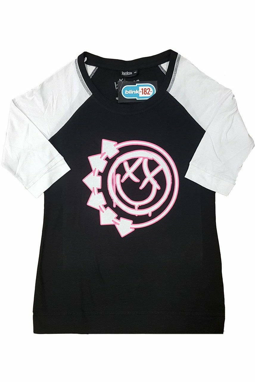 Blink-182 : Six Arrow Smiley Raglan