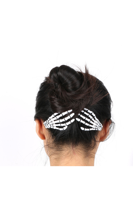 Skeleton Hand Hair Slides (PAIR)