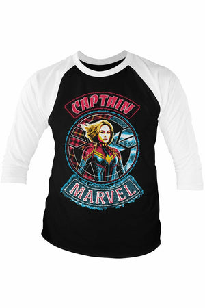Captain Marvel Baseball Top