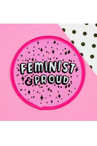 Feminist & Proud Woven Patch