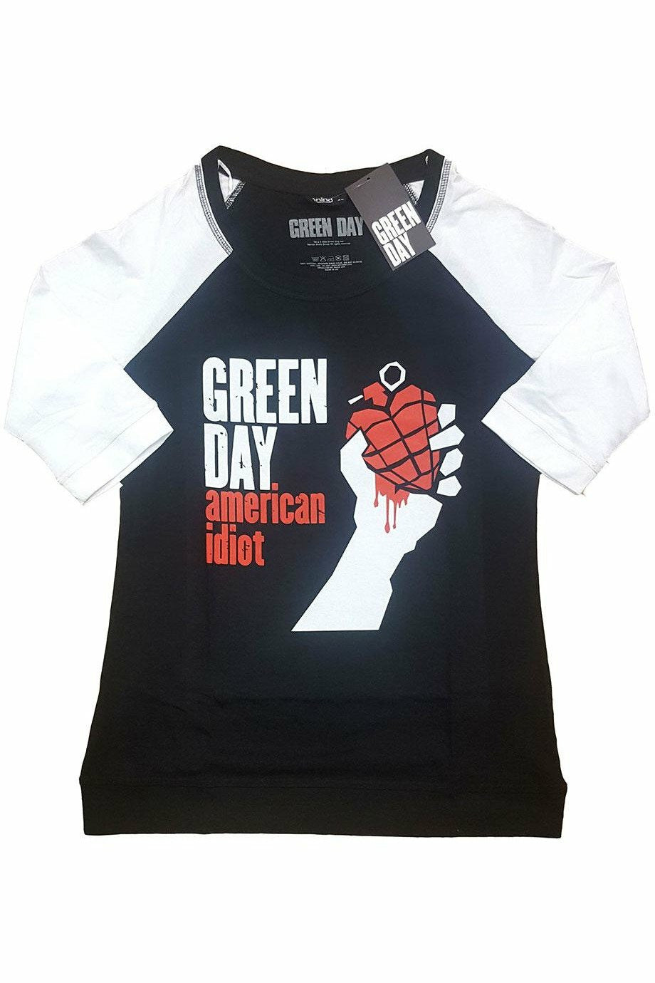 Green Day : American Idiot Raglan