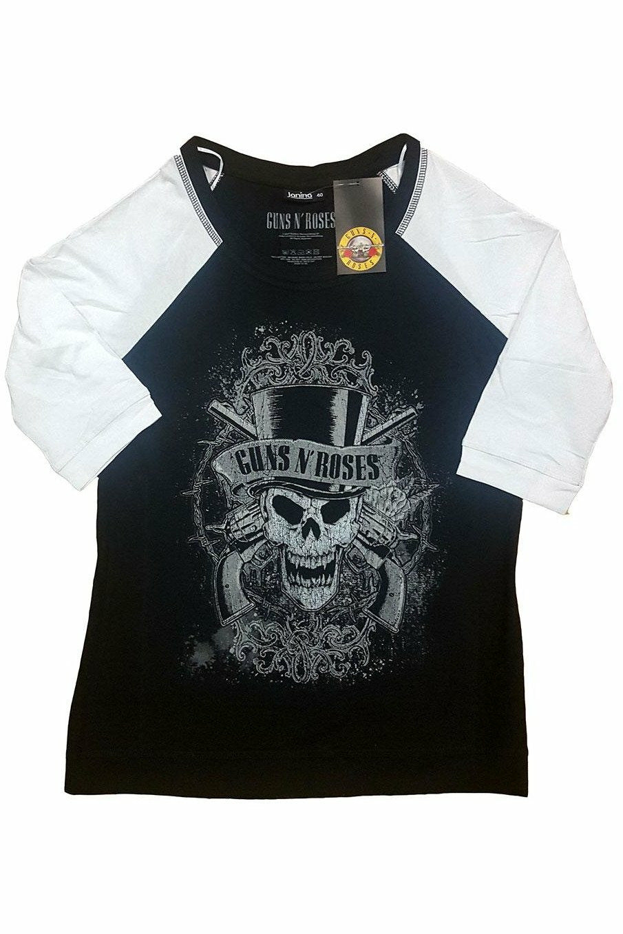 Guns N' Roses : Faded Skull Raglan