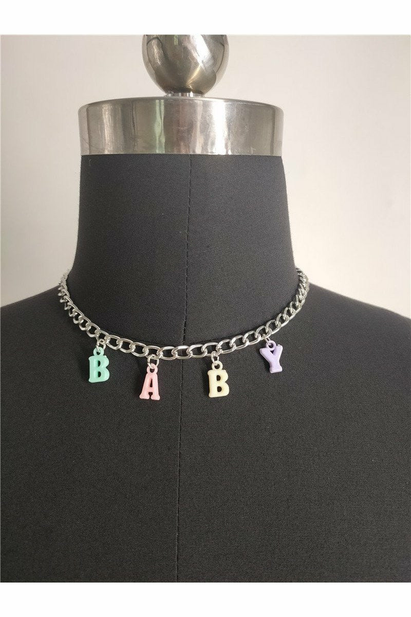 Baby Rainbow Letter Necklace