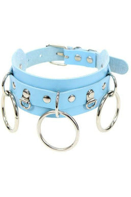 Chain Reaction Pastel Blue Choker