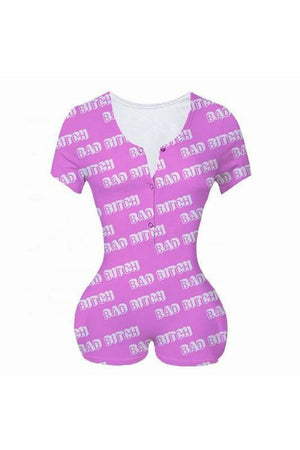 Bad Bitch Romper PJ's