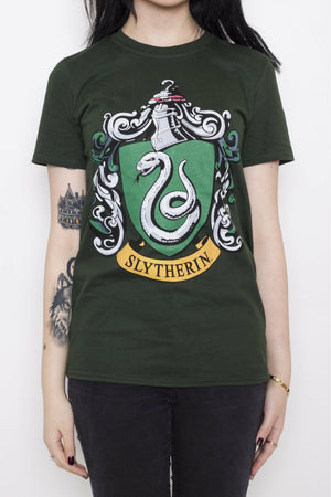 Slytherin Crest T-Shirt - Soft Kitty Clothing