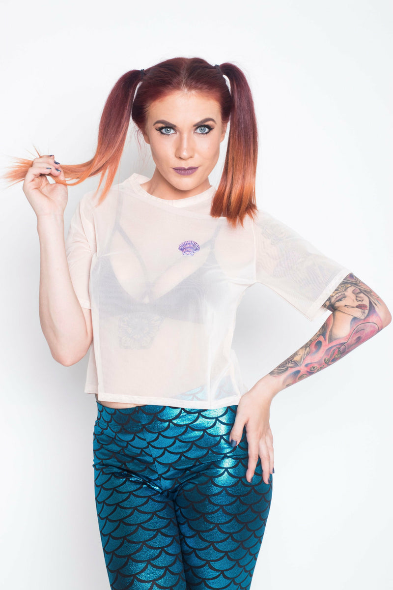 Aqua Mermaid Leggings - Soft Kitty Clothing