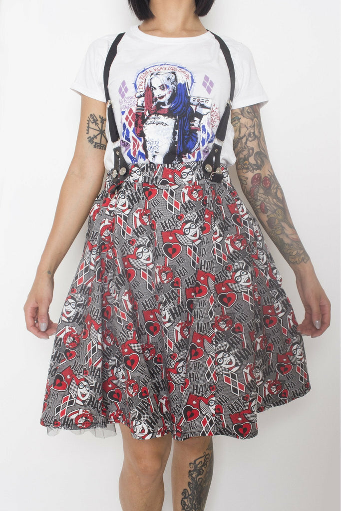 Harley Quinn HAHA Skirt - Soft Kitty Clothing