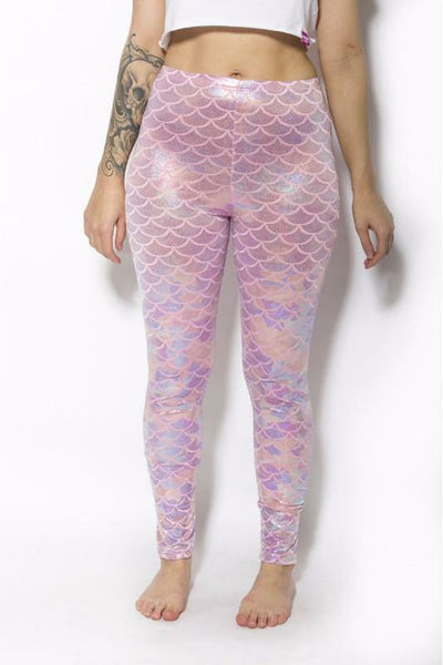 Pastel Pink Mermaid Leggings