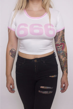 666 Crop Top - Soft Kitty Clothing