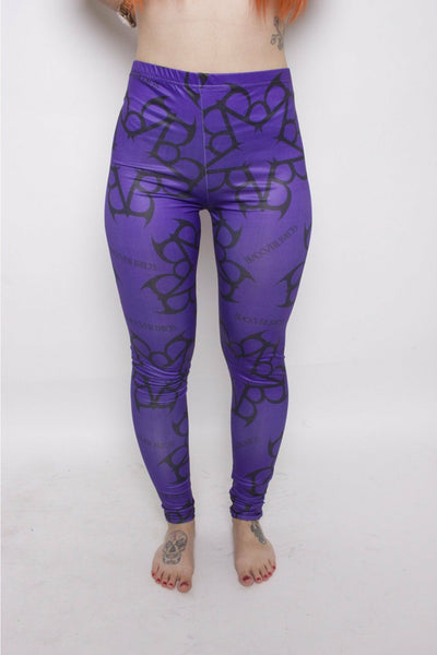 Purple Black Veil Brides Leggings