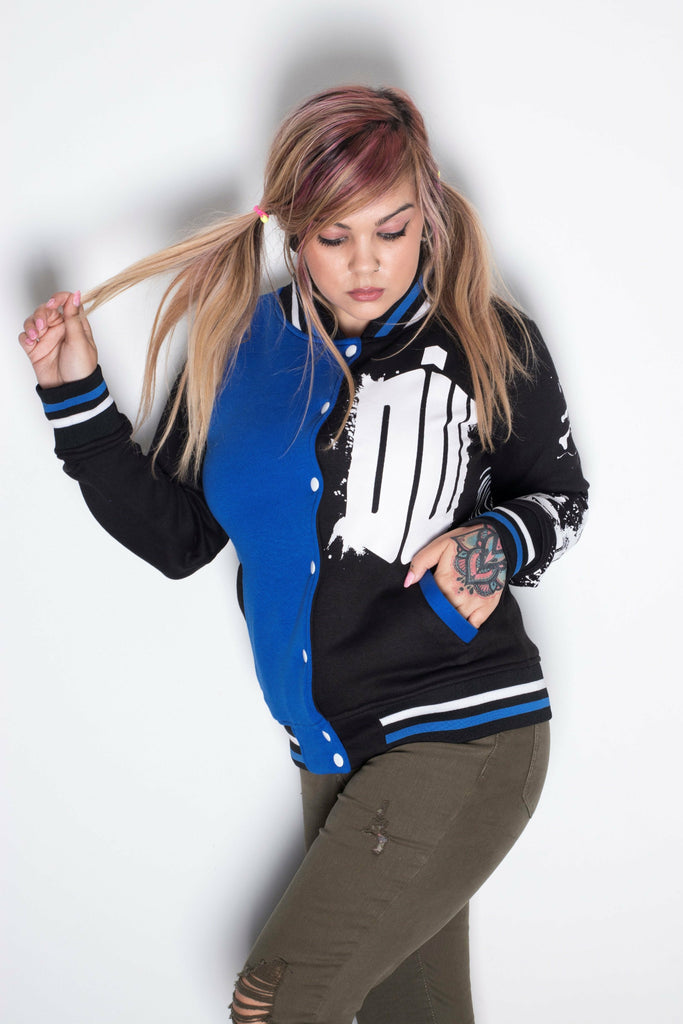 Doctor Who Tardis Varsity Jacket - Soft Kitty Clothing