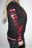 Harley Quinn and The Joker Toxic Love Varsity Jacket - Soft Kitty Clothing