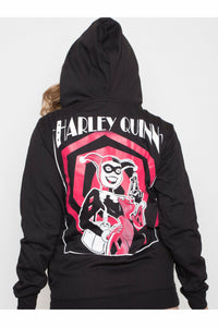 Harley Quinn Zip Up Hoodie - Soft Kitty Clothing