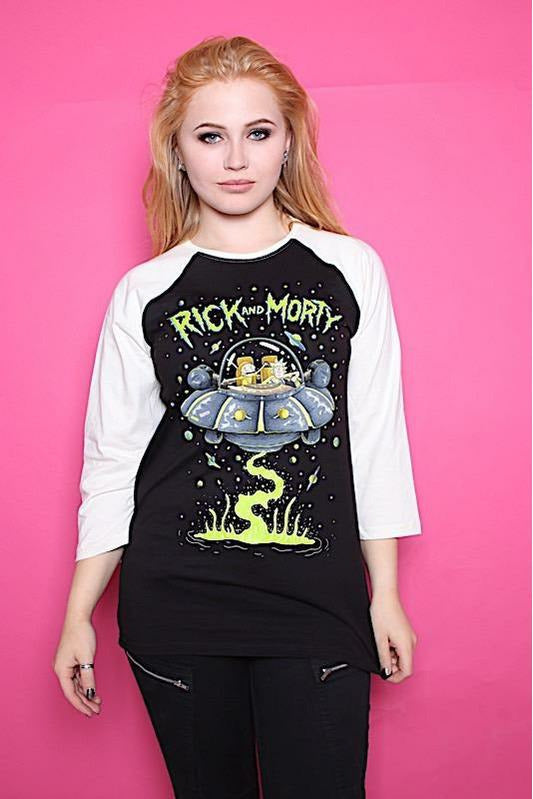 Rick and Morty UFO Baseball Top