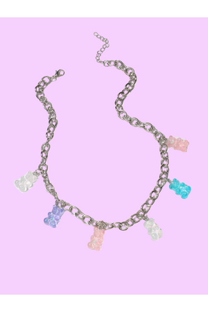 Pastel Gummy Bear Necklace