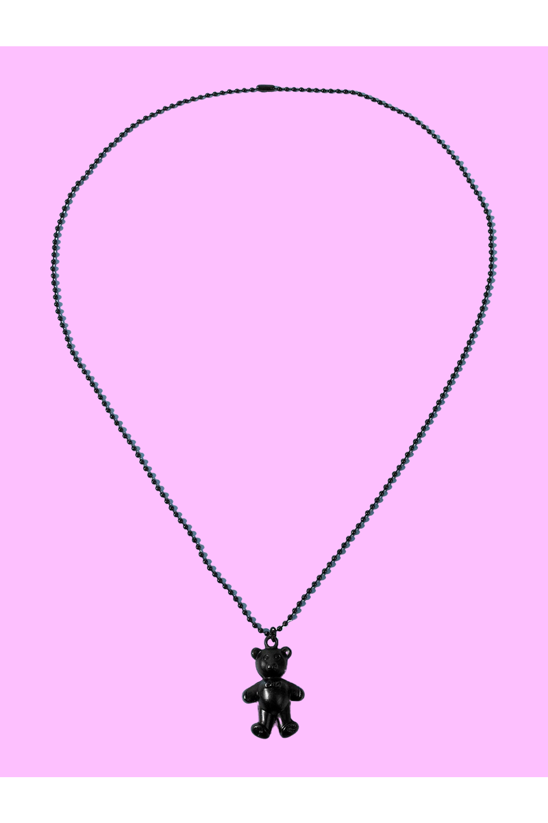 Goth Bear Necklace