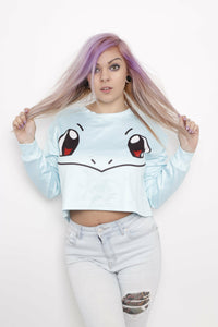 Squirtle Crop Sweater - Soft Kitty Clothing