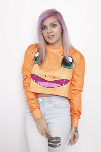 Charmander Crop Sweater - Soft Kitty Clothing