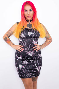 Arcane Sphynx Pencil Dress