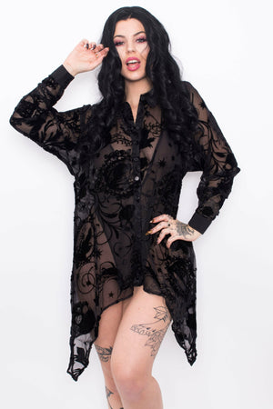 Amoret Witchy Blouse - Soft Kitty Clothing