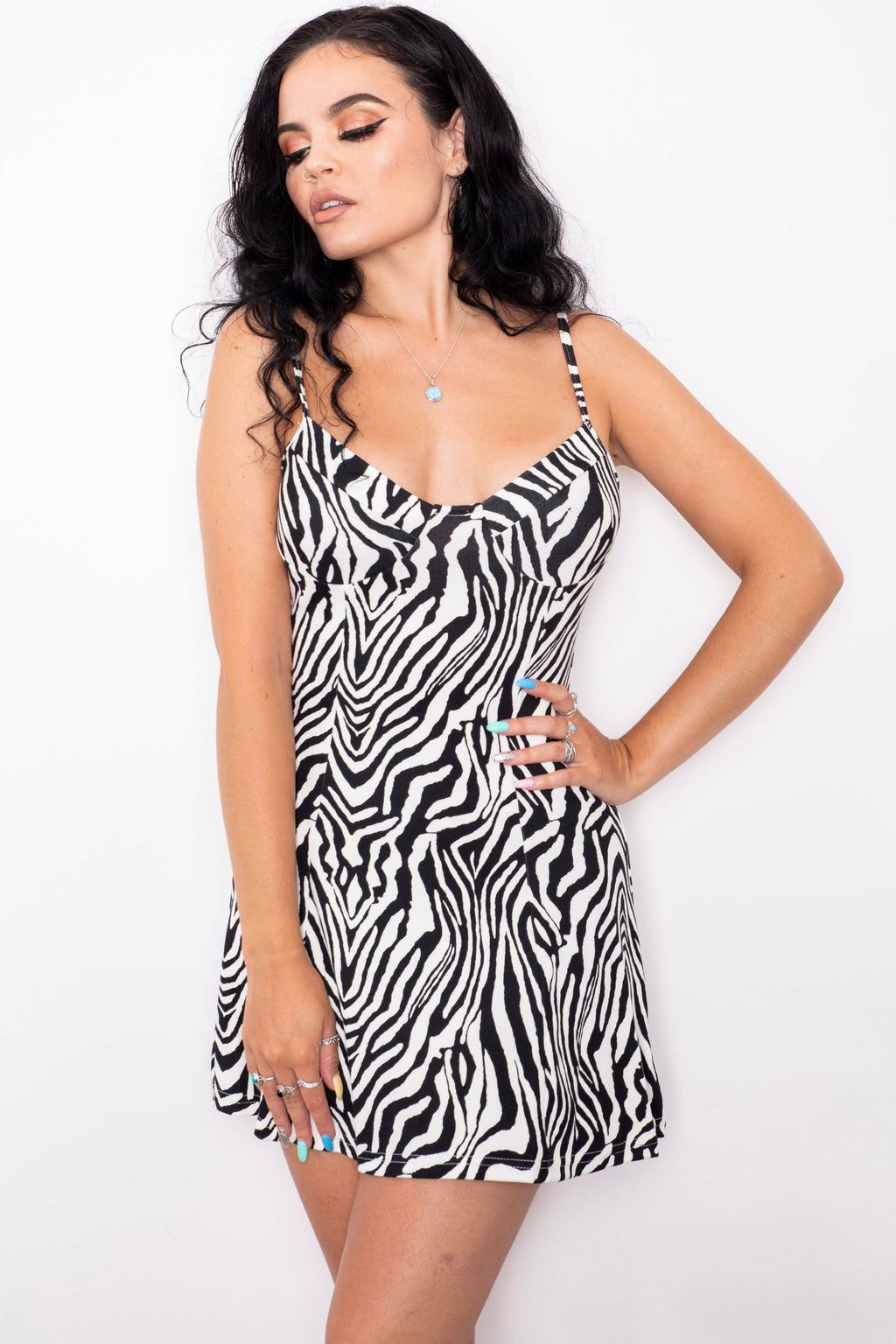Zebra Bustier Dress