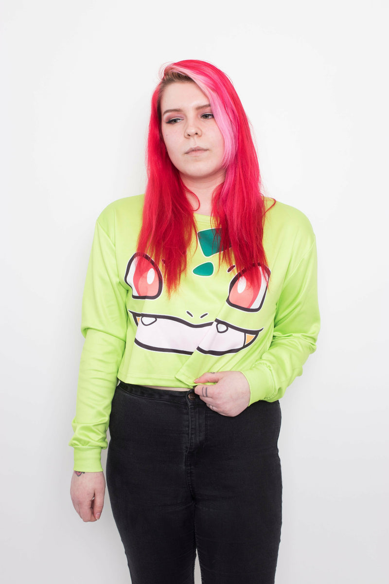 Bulbasaur Crop Sweater - Soft Kitty Clothing