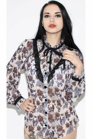Griselda Blouse - Soft Kitty Clothing