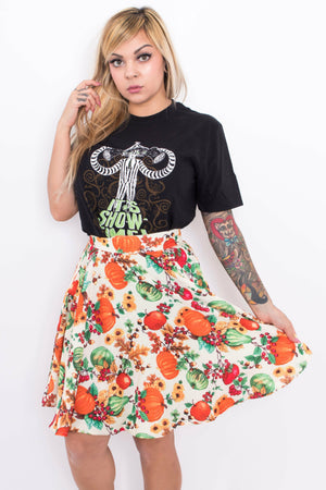 Autumn Pumpkin Skirt - Soft Kitty Clothing