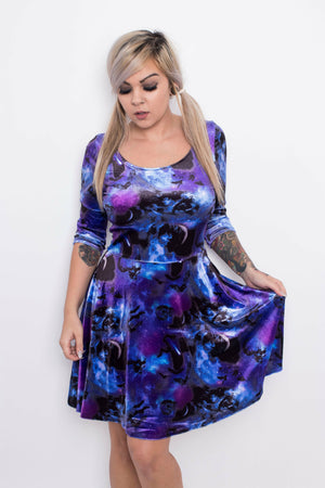 Spin Doctor Orpheus Galaxy Mini Dress - Soft Kitty Clothing