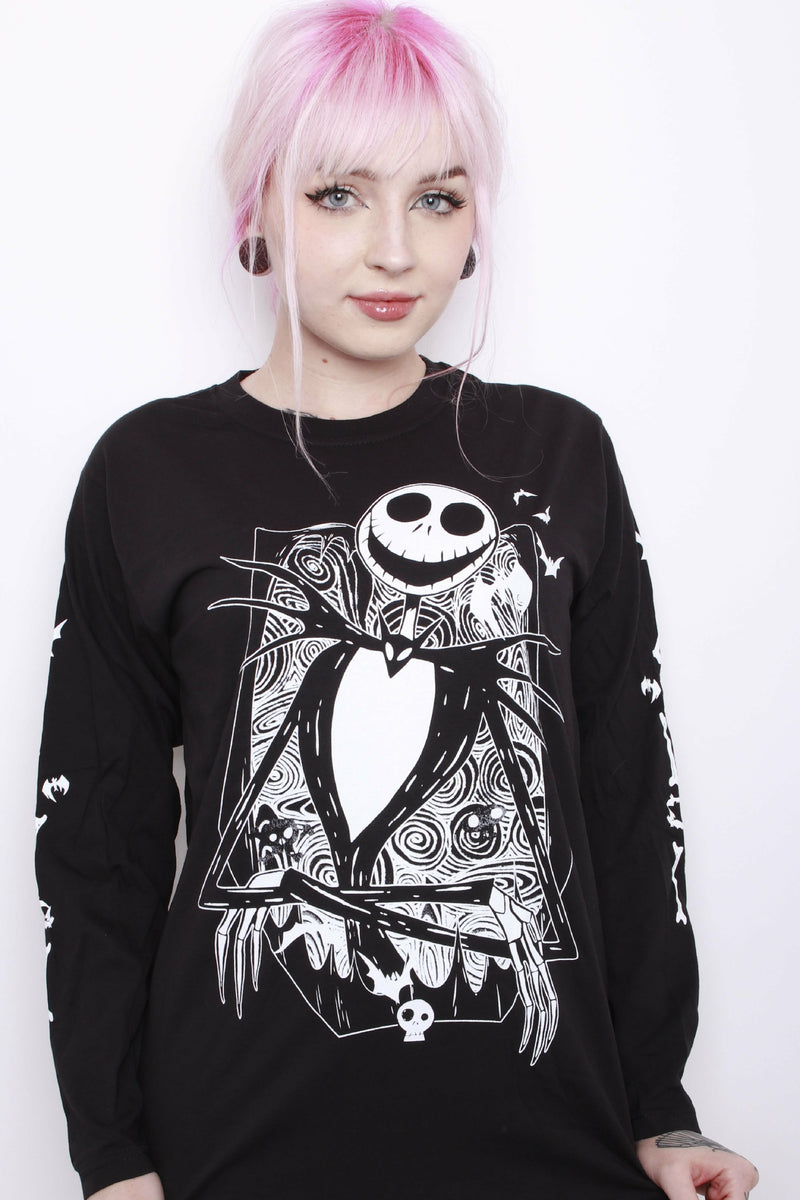 Nightmare Before Christmas Skeleton Long Sleeve Top