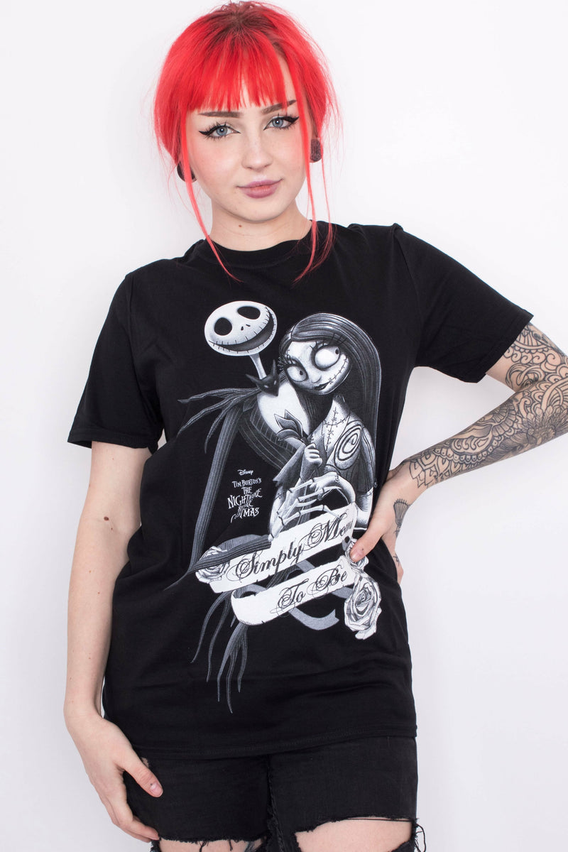 Nightmare Before Christmas : Live Like Jack + Sally T-Shirt