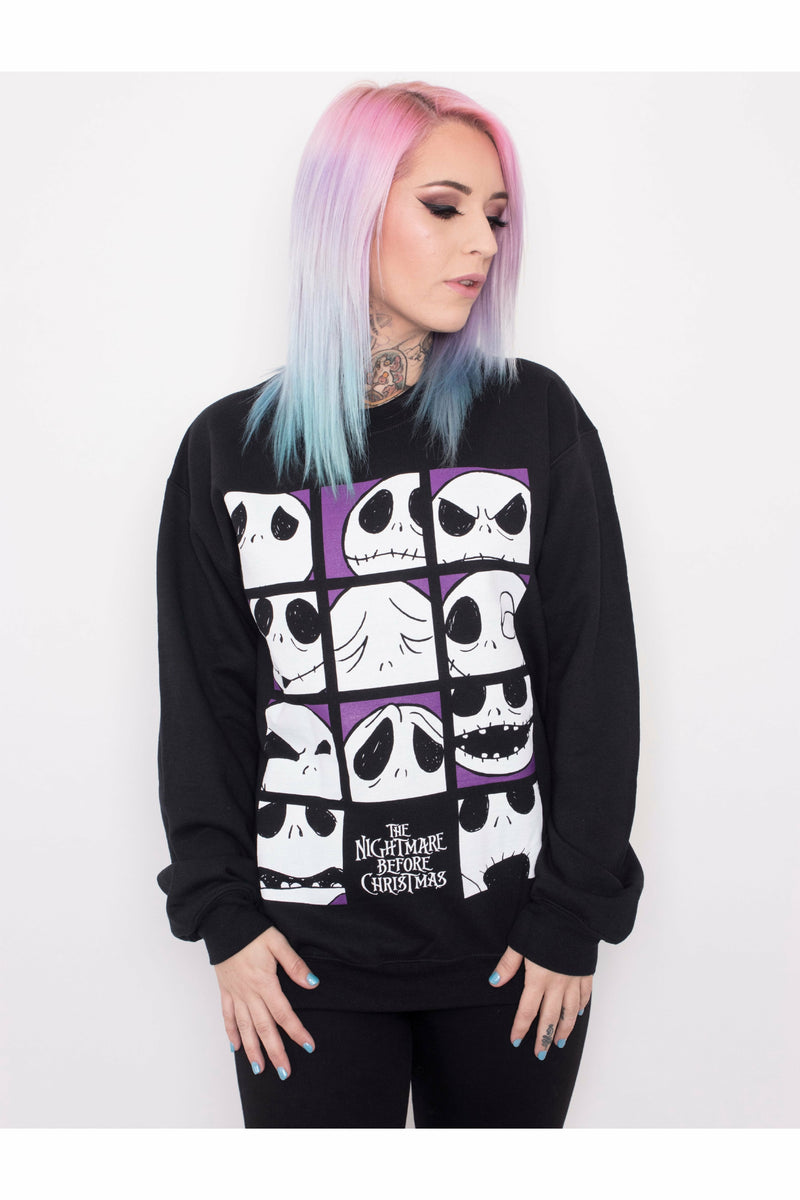 The Many Faces Of Jack Skellington Sweater