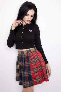 Ur Blocked Tartan Skirt