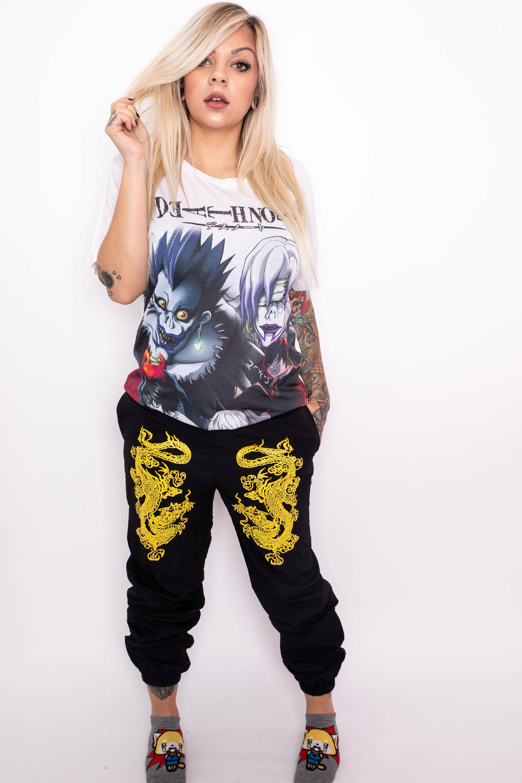 Dragon Black and Yellow Joggers