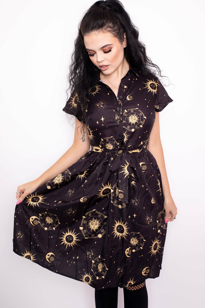Celestial Button Up Dress