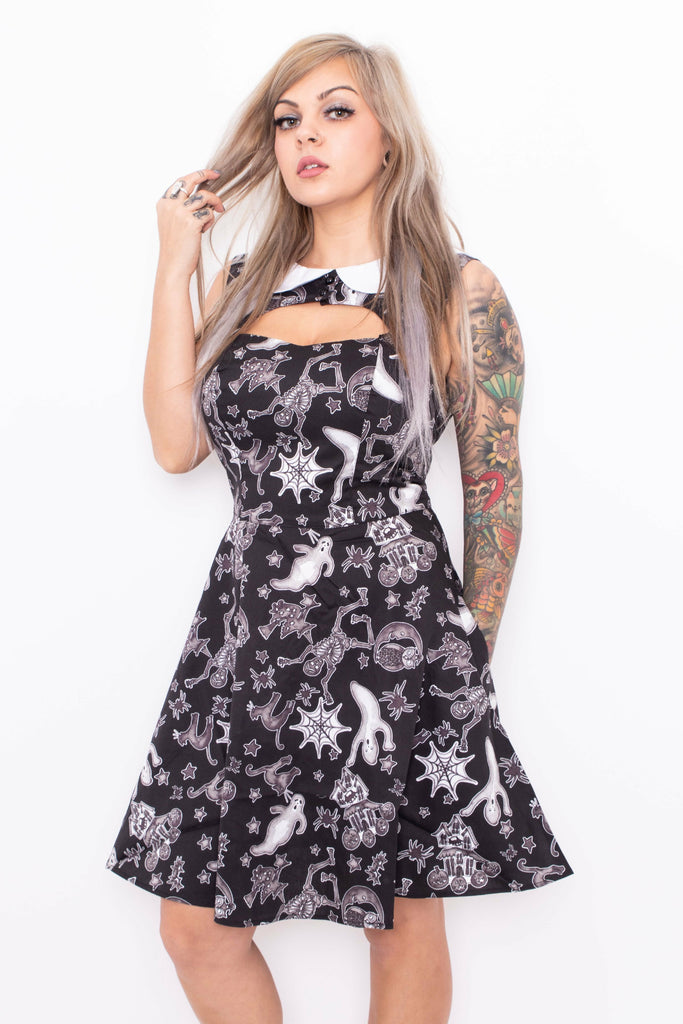 Spooky Ghosts Mini Dress