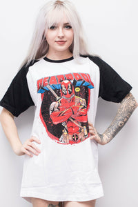 DEADPOOL Cross Arms T-Shirt - Soft Kitty Clothing