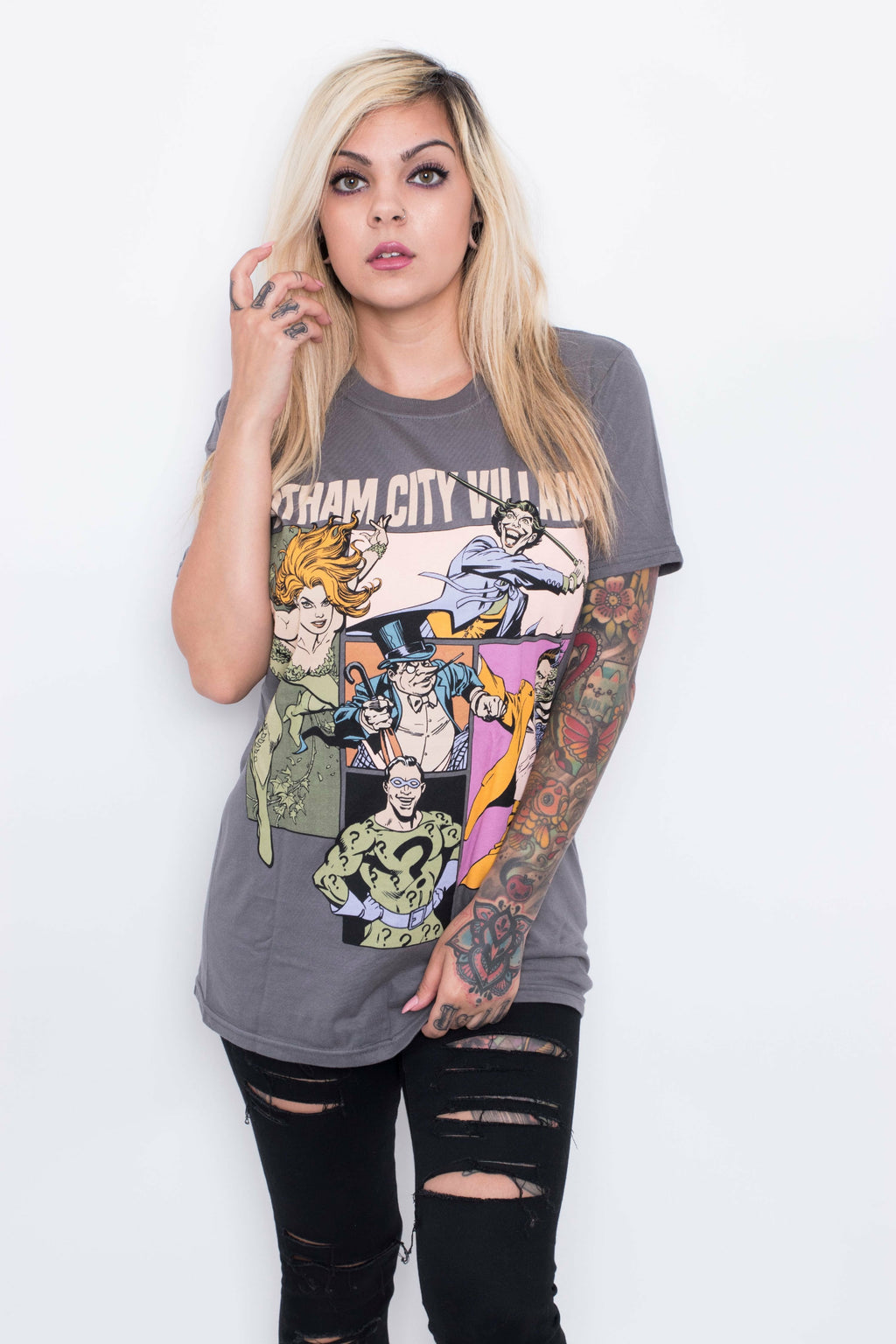 Gotham City Villains Unisex T-Shirt - Soft Kitty Clothing