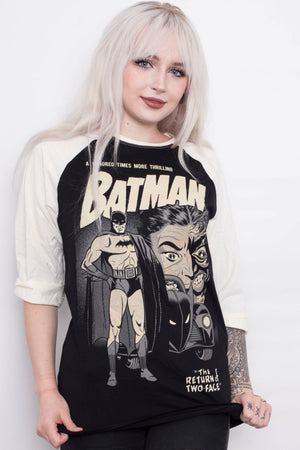 Batman x TWO FACE Varsity Top - Soft Kitty Clothing