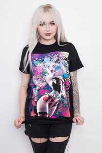 Harley Quinn Hammer Smashing T-Shirt - Soft Kitty Clothing