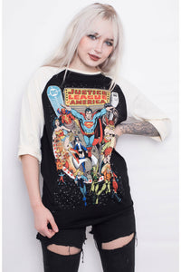 Justice League Varsity Top