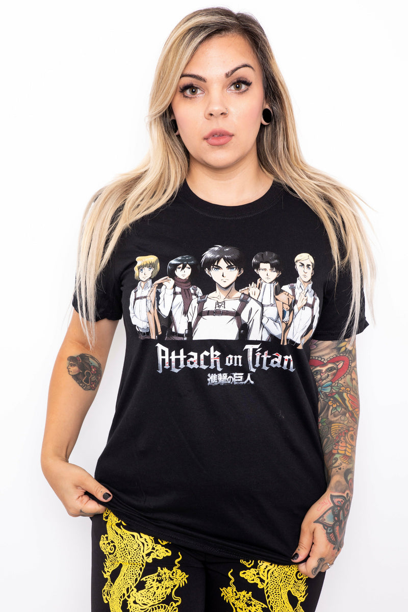 Attack On Titan Character T-Shirt
