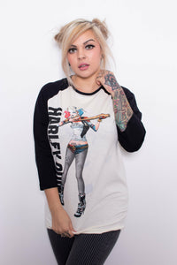 Harley Quinn Suicide Squad Baseball Top