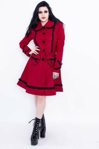 Mikaela Red + Black Coat