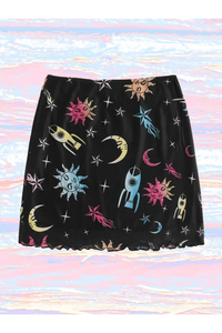 To The Moon and Back Mesh Skirt