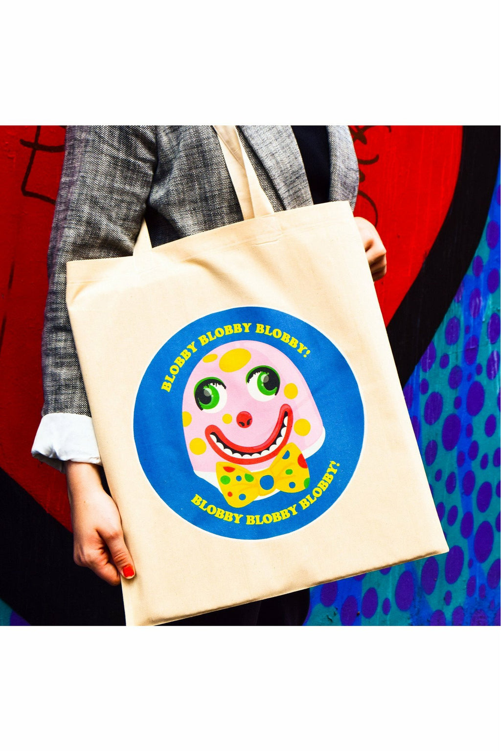 Mr Blobby Tote Bag