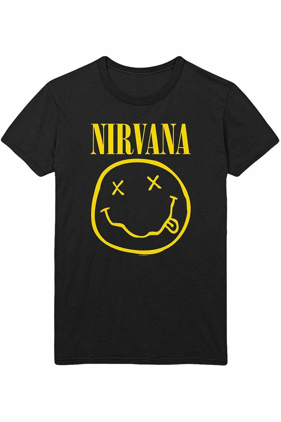 NIRVANA : Flower Sniffin T-Shirt (WITH BACKPRINT)